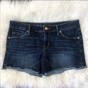 Mossimo Dark Wash Midi Denim Shorts Size 6